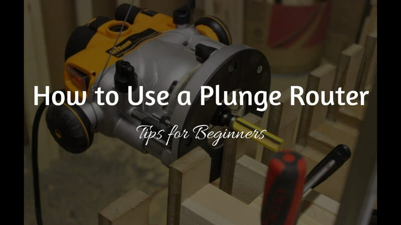 Use a Plunge Router