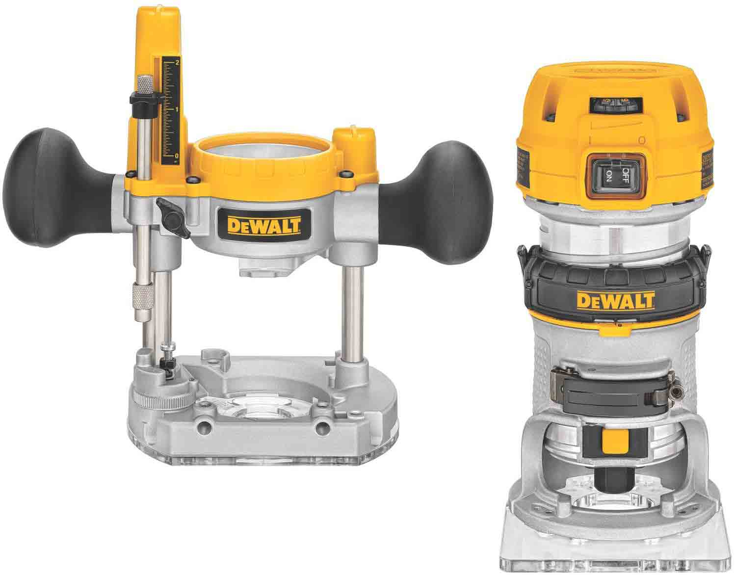DEWALT-Router-Fixed-Plunge-Base-Kit,-Variable-Speed,-1