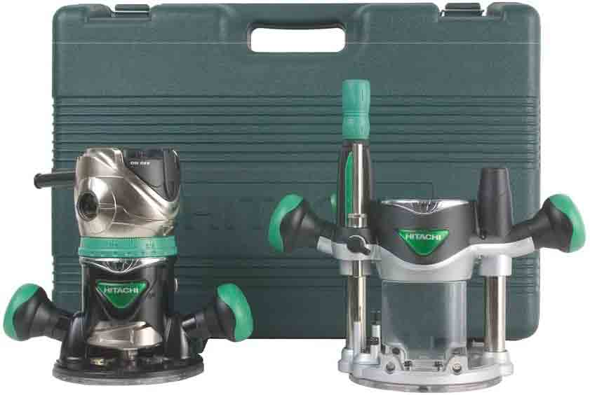Hitachi KM12VC 2-1/4 Peak HP Variable Speed Fixed/Plunge Base Router Kit